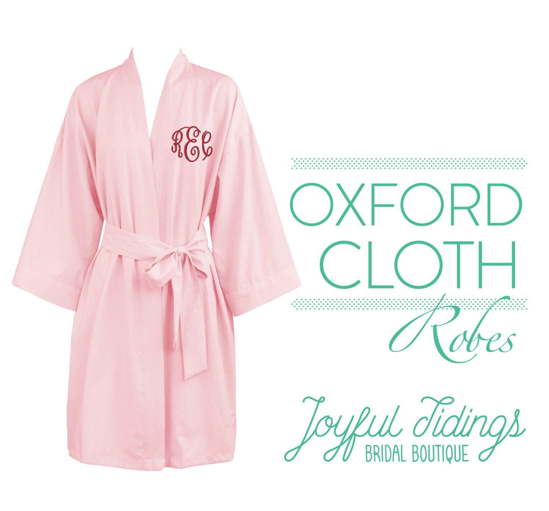6e0cc80e07 Personalized Oxford Cloth Kimono Robes
