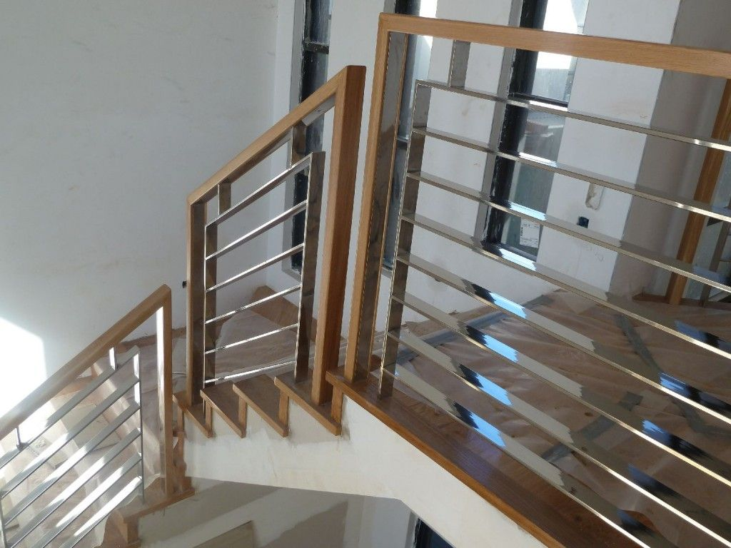 Stallion Stainless 1300 765 885 Stainless Steel Balustrade with Timber Handrail Melbourne