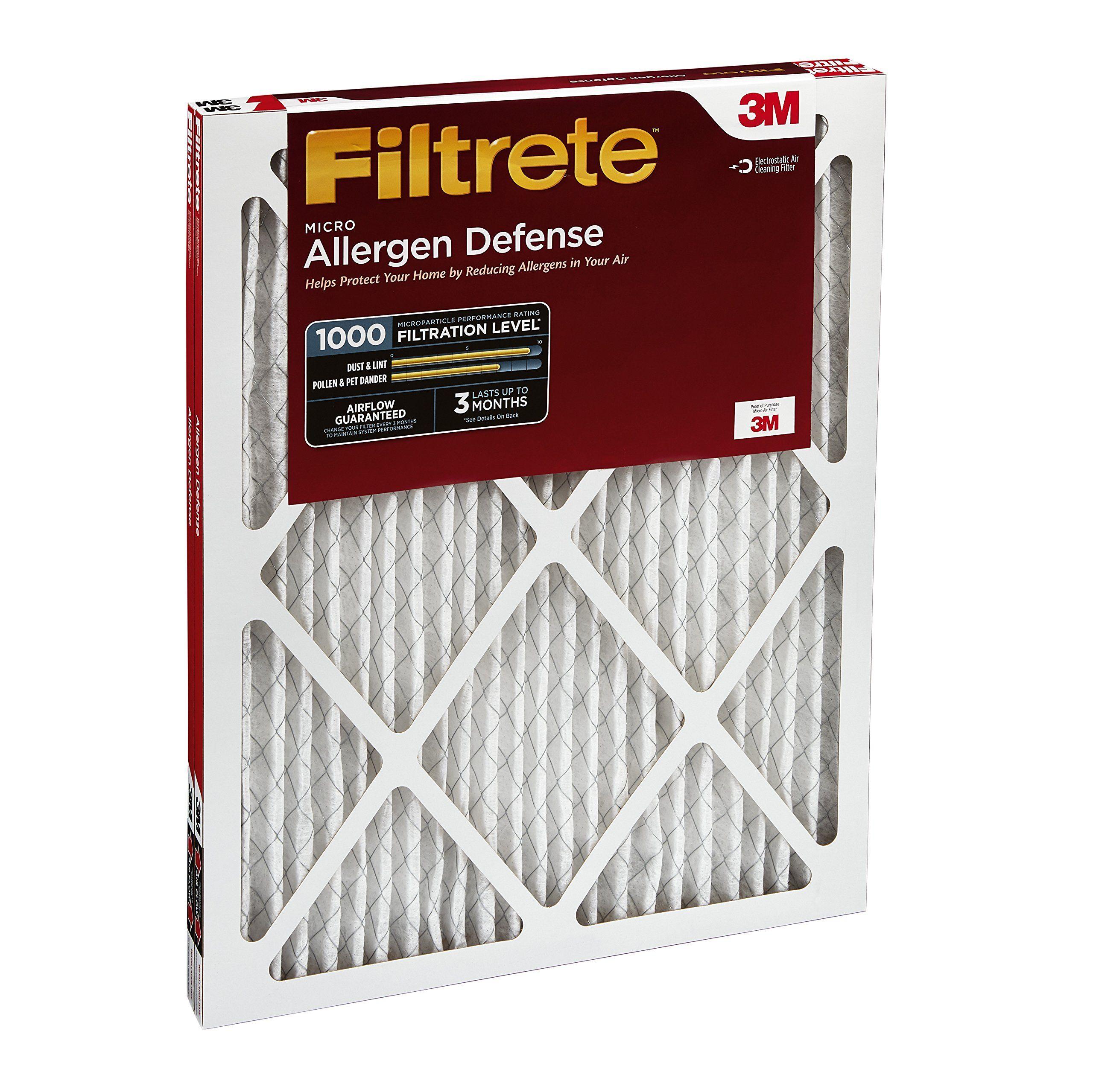 Filtrete Micro Allergen Defense AC Furnace Air Filter