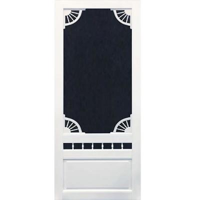Screen Tight 36 In X 80 In Charlestowne Solid Vinyl White Screen Door Chs36 The Home Depot Vinyl Screen Doors Screen Door Retractable Screen Door