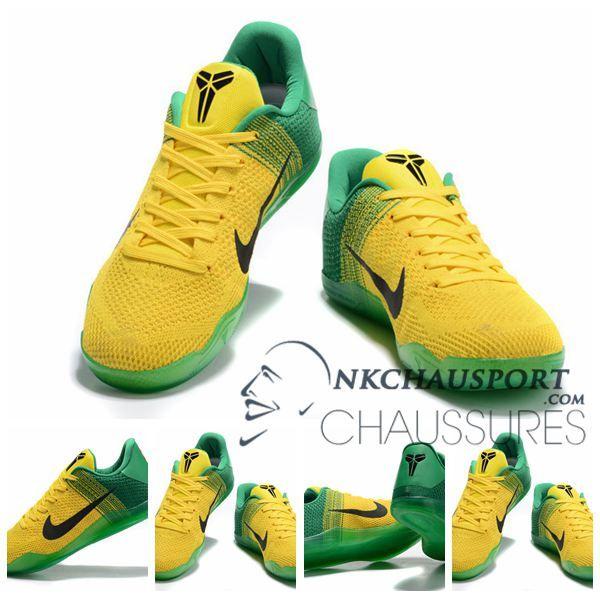Bryant Nike Chaussure Kobe 11Nouvelle Basket Homme Vert Jaune De lK1JcTF