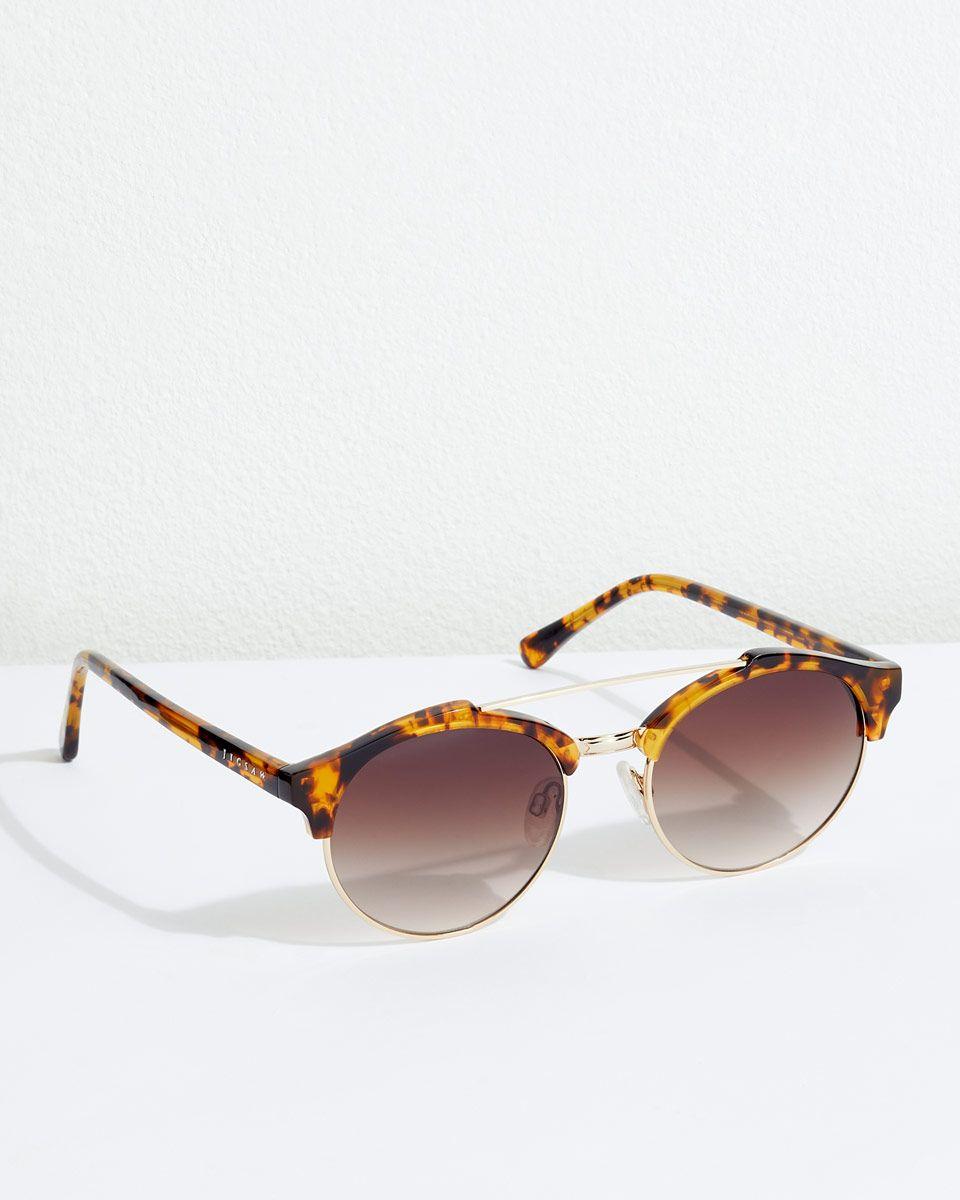 c38620a469 Hana Metal Round Frame Sunglasses