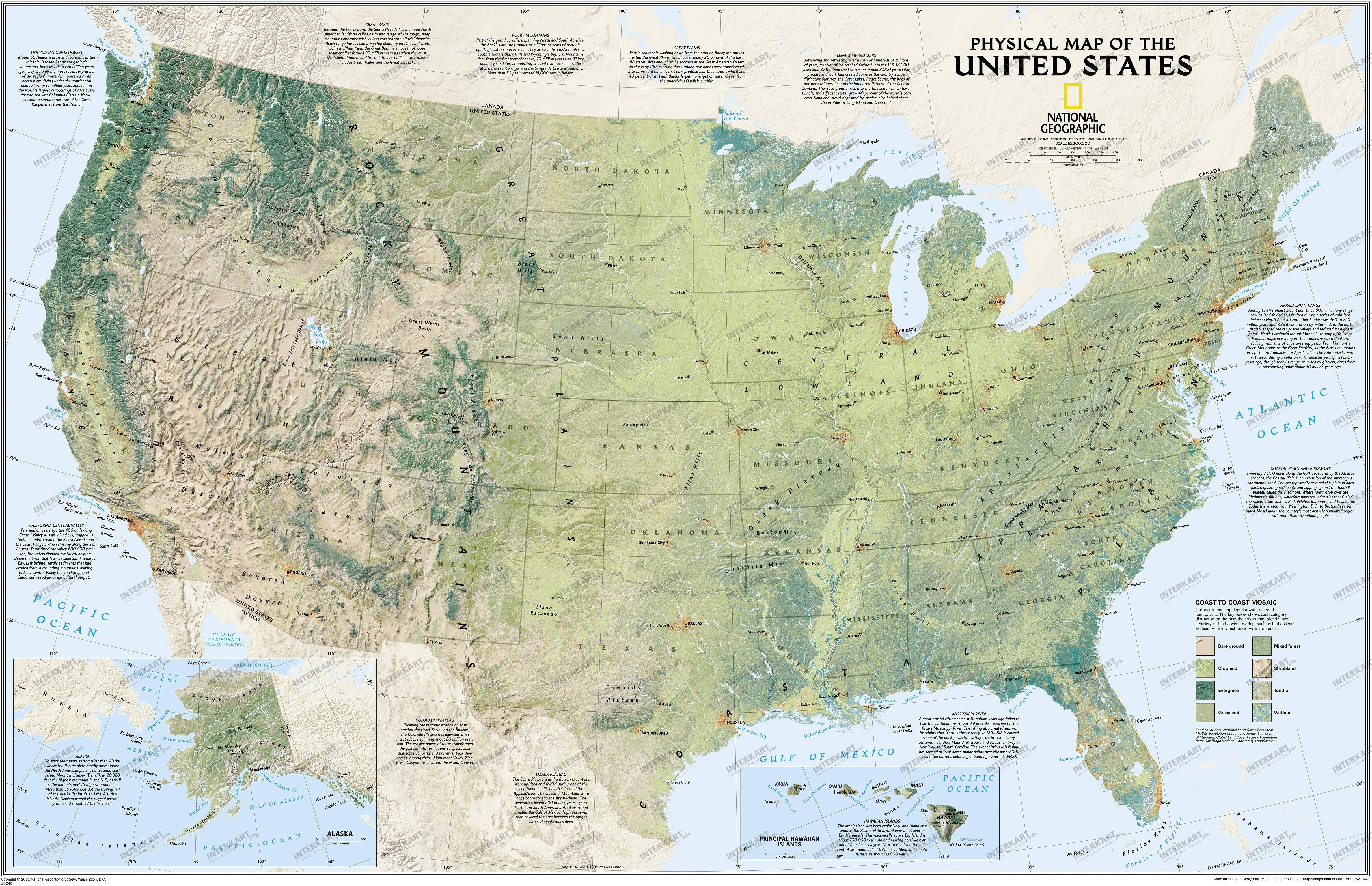 Blank Physical Map Of The United States Geography Blog