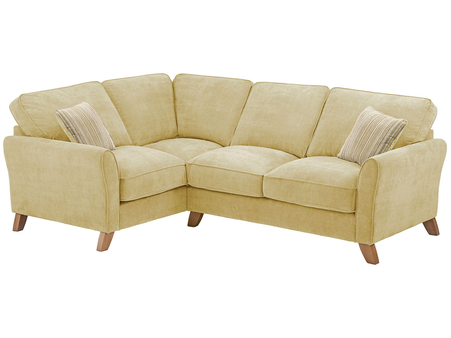 Jasmine Corner Sofa Left Hand In Grace Fabric Lime With Summer Ters Oak Furniture Landhardwood