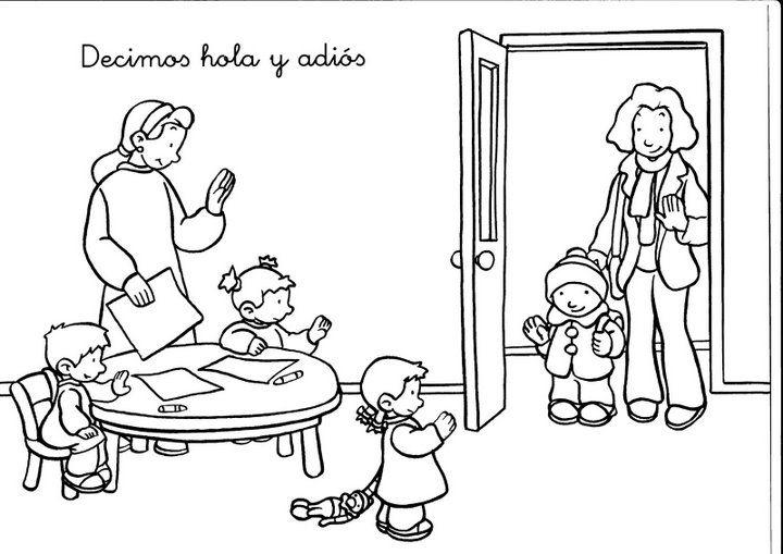 Rutinas Y Rincones School Coloring Pages Preschool Rules Rules For Kids