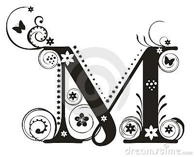 Letter M Stock Photo Image 7207230 Decorative Letters Letter