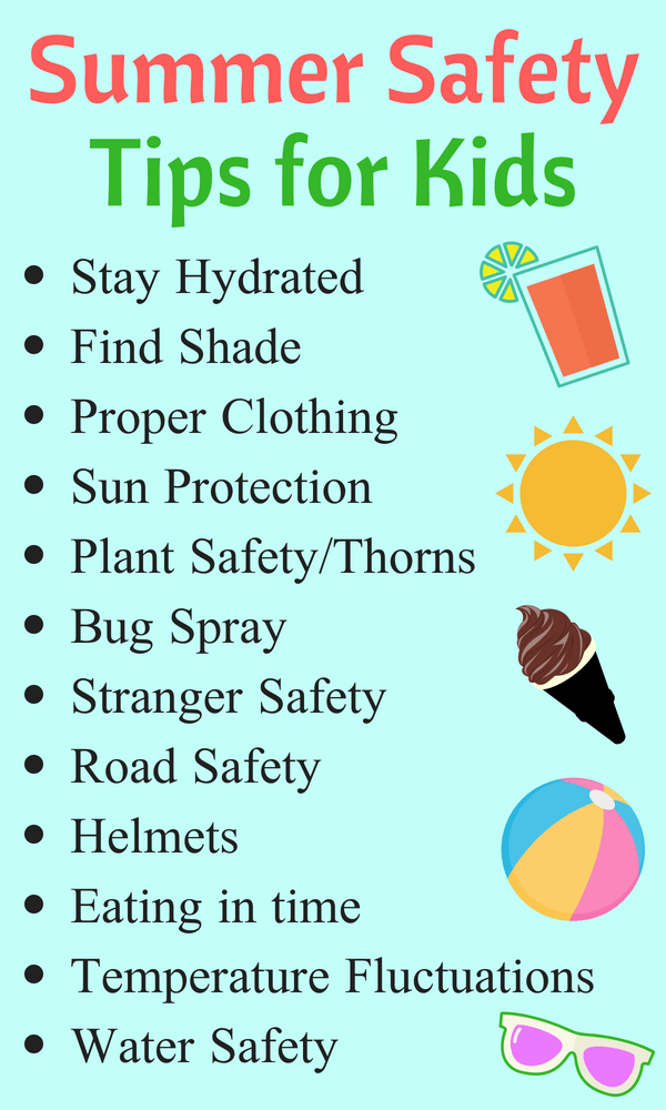7 Top Camping Safety Tips Summer Safety Activities Sun Safety