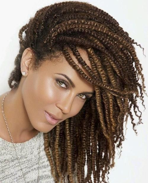 30 Hot Kinky Twists Hairstyles to Try in 2018   Twist hairstyles ...