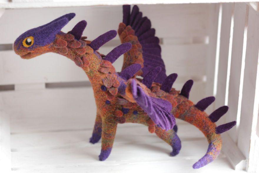 Felt Dragons By Russian Artist Alena Bobrova #feltdragon