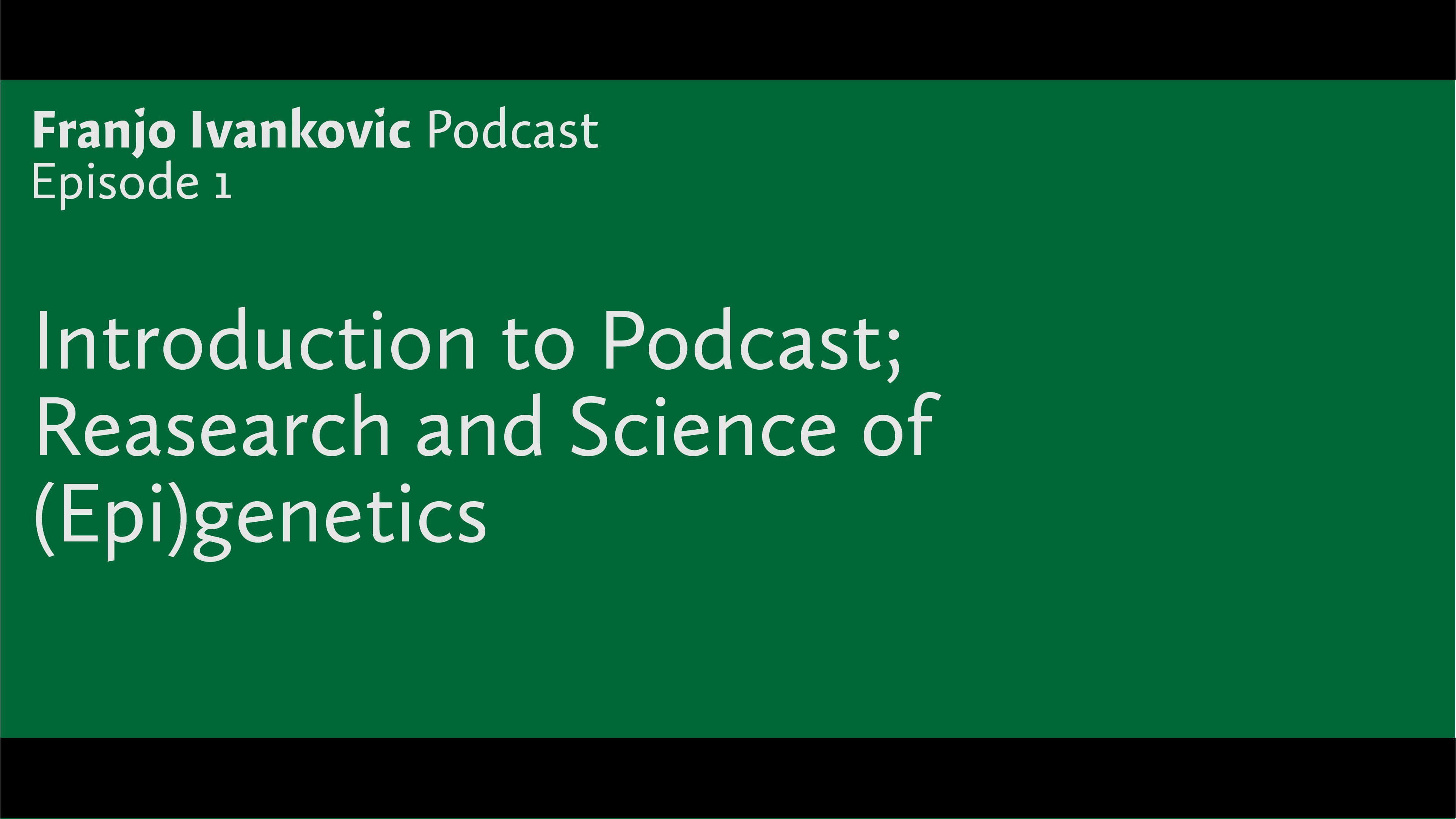 Podcast Episode 1: Introduction to Podcast