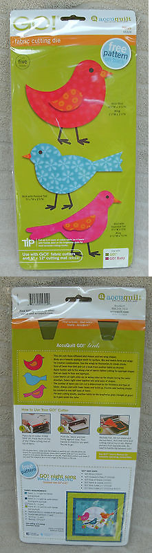 Quilting Tools and Equipment 19161: Accuquilt Go! Birds Fabric Cutting Die Free Pattern Included! ~ New -> BUY IT NOW ONLY: $34.95 on eBay!