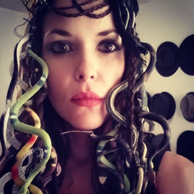Medusa: A fun and easy DIY Halloween costume made for teens.