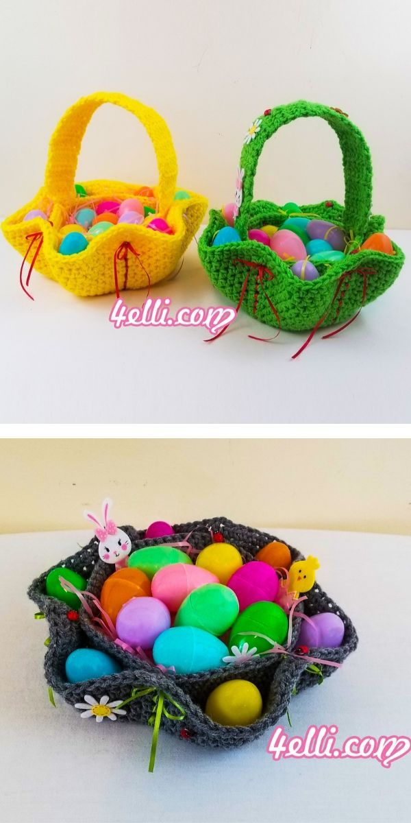 The Best 30 Crochet Easter Baskets The Best 30 Cro