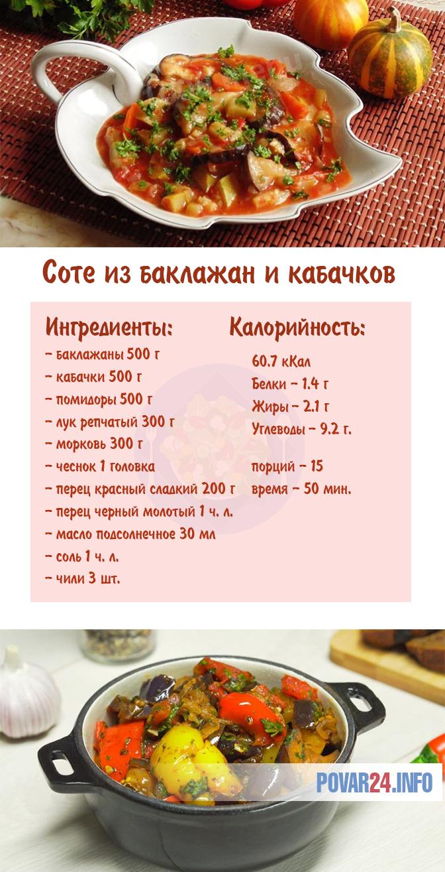 Соте из баклажан и кабачков: рецепт с фото пошаговый | Диабетические блюда, Еда, Блюда из баклажанов