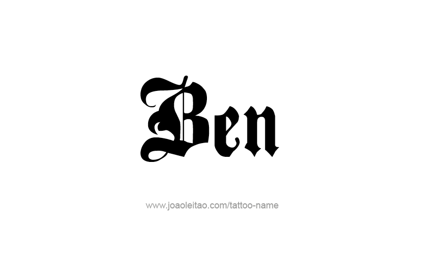 Page With 31 Different Design Font Styles For The Name Ben Make Tattoo
