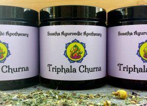 Triphala Churna. Heals digestion issues.