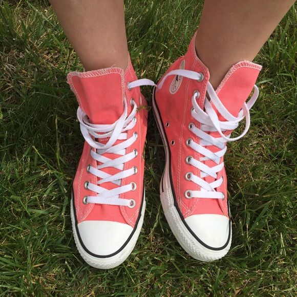 Bubblegum Pink High Top Converse All