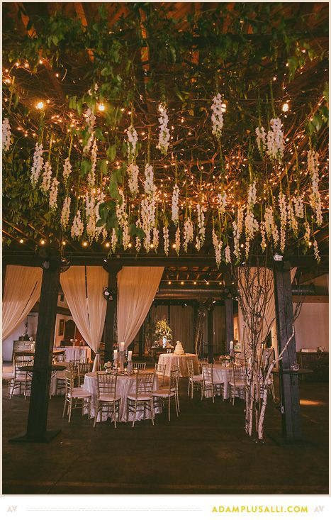 Wedding Decorations Hang Flowers Over The Dance Floor To Add Decoration By Fresh