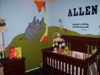 I Am A Preschool Teacher And Was Inspired To Create Our Baby Boyu0027s  Inspirational Dr Seuss Nursery Because I Love Reading Dr. Seuss Books To My  Kids.