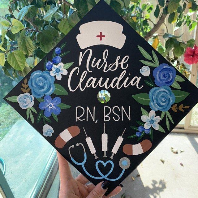 Custom Graduation Cap | Hand-painted Graduation Cap | Graduation Cap Topper