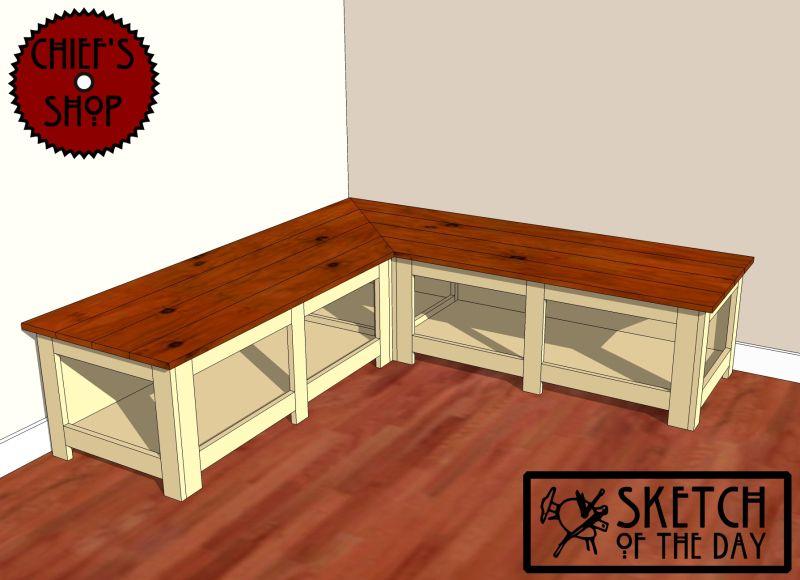 Build Wooden Corner Bench Plans DIY PDF wood composite materials
