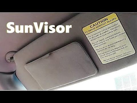 How To Fix A Floppy Sun Visor That Does Not Stay In Place