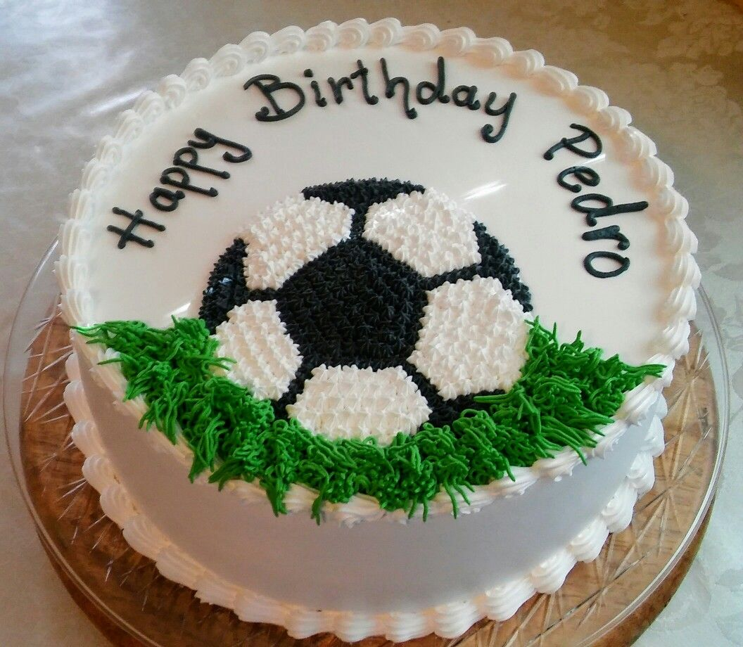 Soccer Decoration Birthday Cake With Images Soccer Birthday