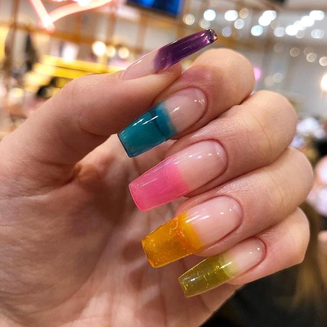 Transparent nail art design