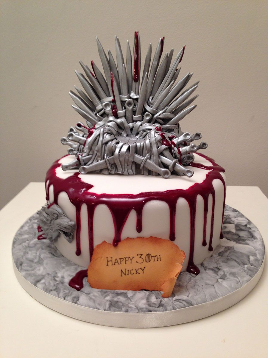 Game of Thrones cake in a one tier for a Birthday Cakes by Time