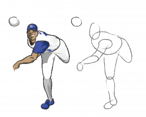 Learn To Draw - Baseball Pitcher | Artes marciales, Marcial y Béisbol