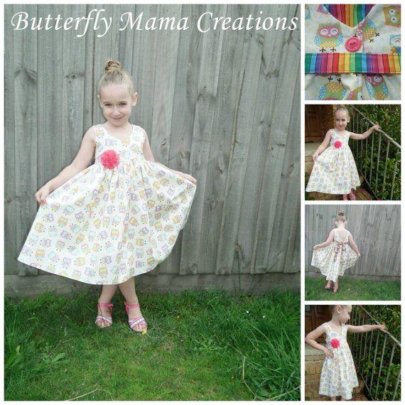 Gracelyn Dress Girls PDF Pattern Sizes 2 3 4 5 6 | Schärpe ...