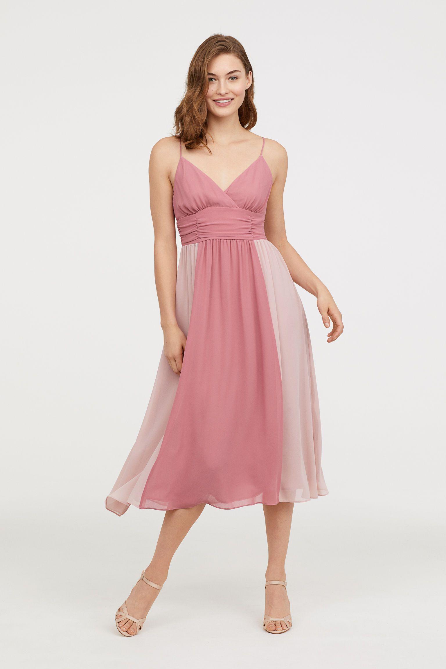 H&M V-neck Dress - Pink   Pinterest