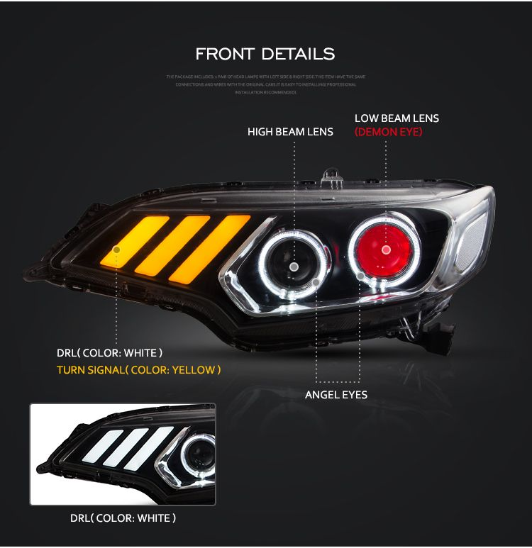 There Are Different Lights Of Vland Honda Fit Jazz Head Lamp The