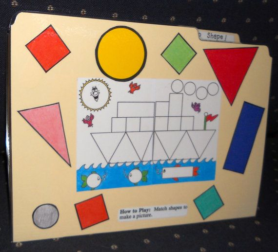 SHIP SHAPE - Shapes - File Folder Game - Ready to play, No