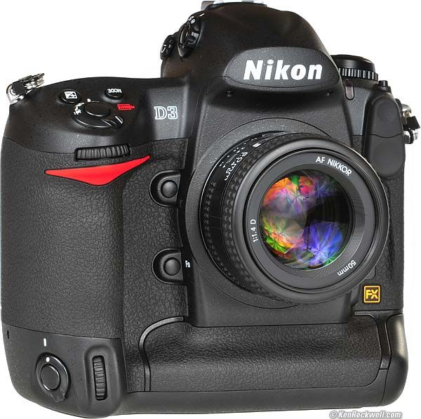 Nikon D3. Nikon's first full-frame DSLR. This camera changed the digital landscape forever.