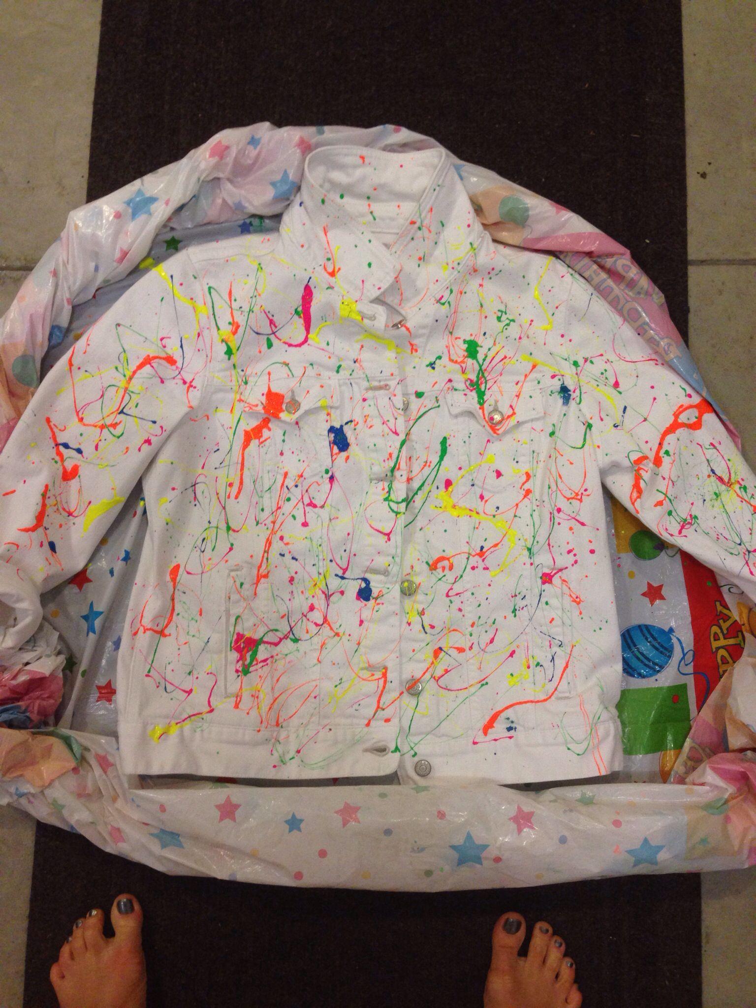 80 S Party Splatter Paint Jean Jacket Paint Splatter Jeans Painted Jeans Paint Splatter [ 2048 x 1536 Pixel ]