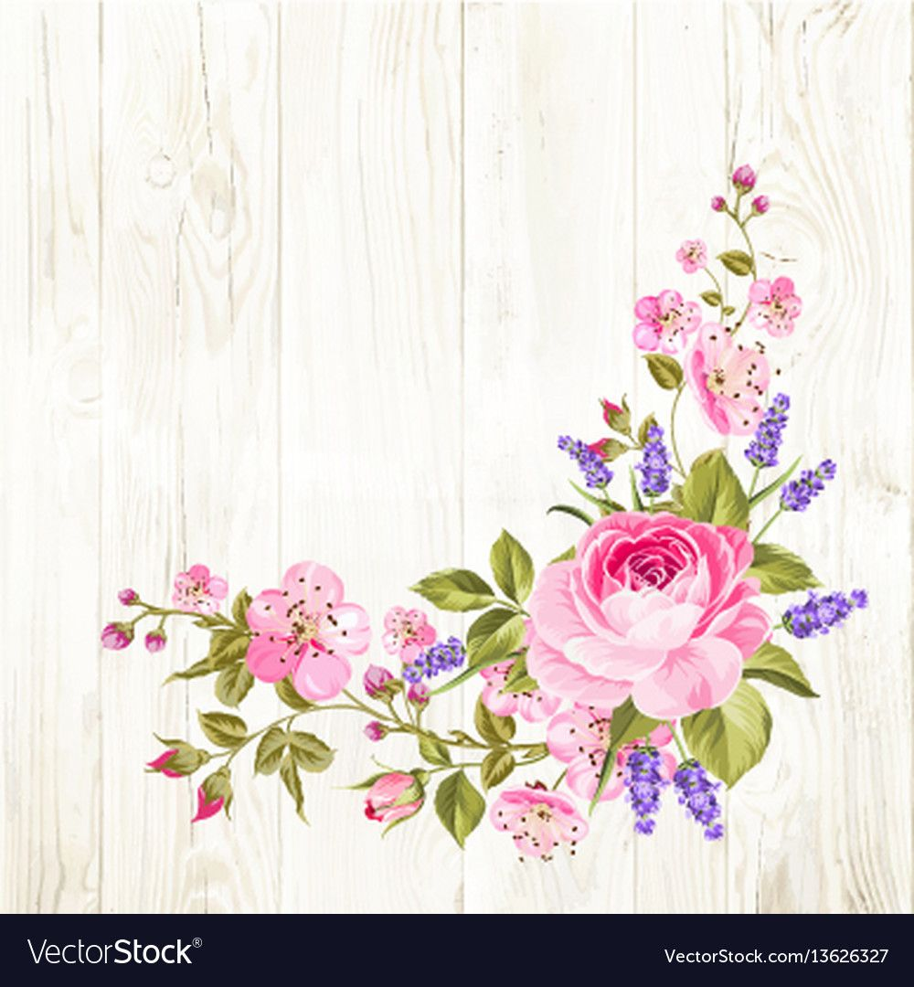Spring flowers garland vector image on