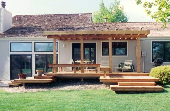 Image Result For Covered Porch With Step Down Decking