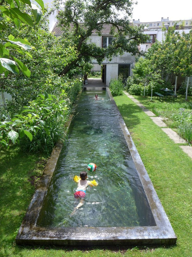 Photo of Agence GRUE – privater Garten mit Pool #infinitypool #poolideas #pool # …,  #a…