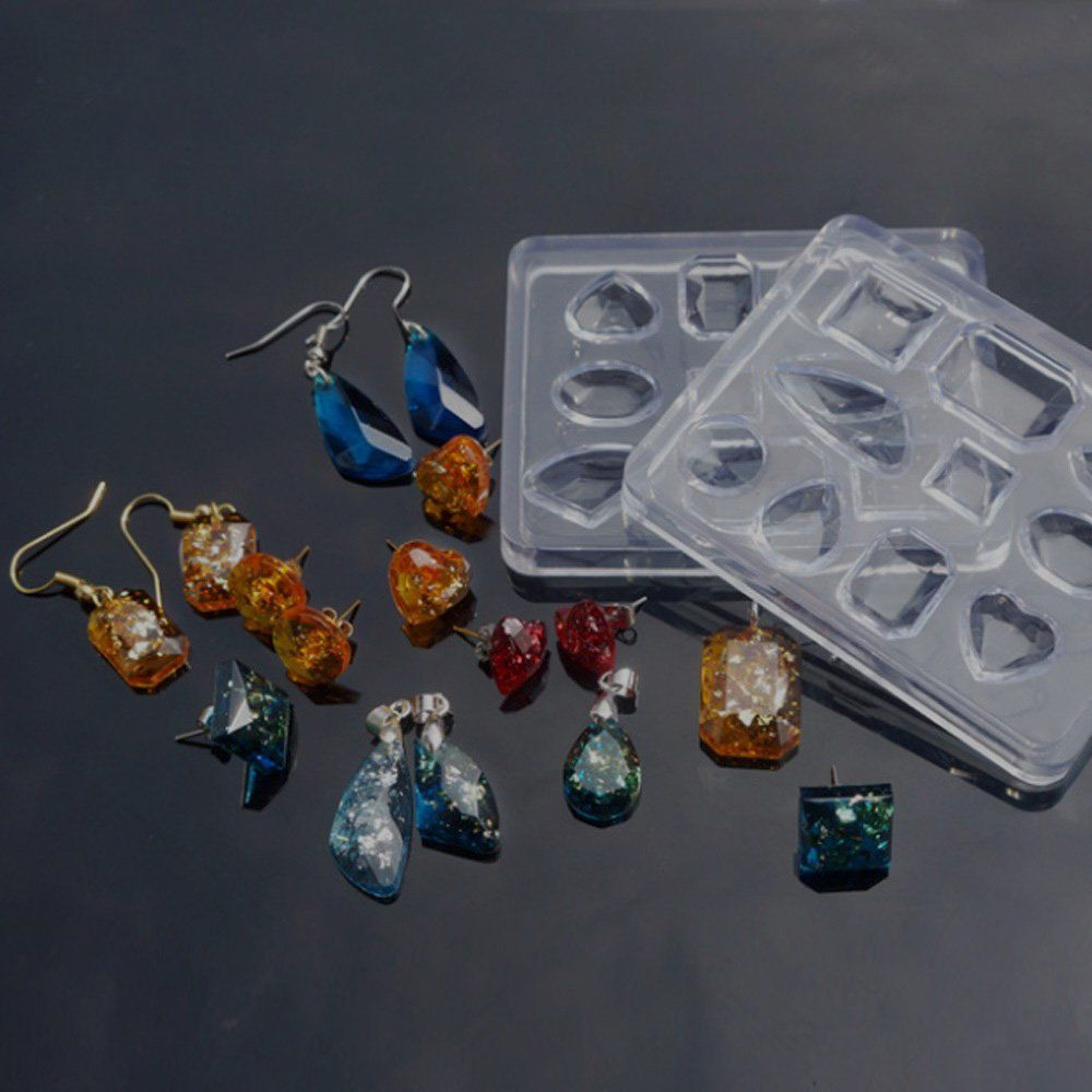 Epoxy Crystal Pendant Silicone Mould Jewelry Making Tools Resin Mold Cube Molds