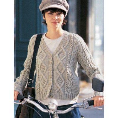 Free Intermediate Womens Cardigan Knit Pattern Being Creative