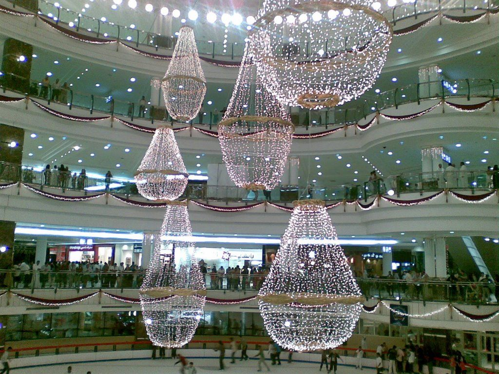Panoramio Photo Of City Center In Doha Qatar Chandelier Center City Ceiling Lights