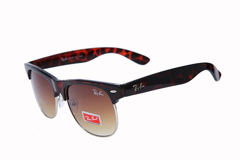 4165a2e2cb7 Ray Ban Clubmaster Classic RB3016 Brown Leopard Sunglasses