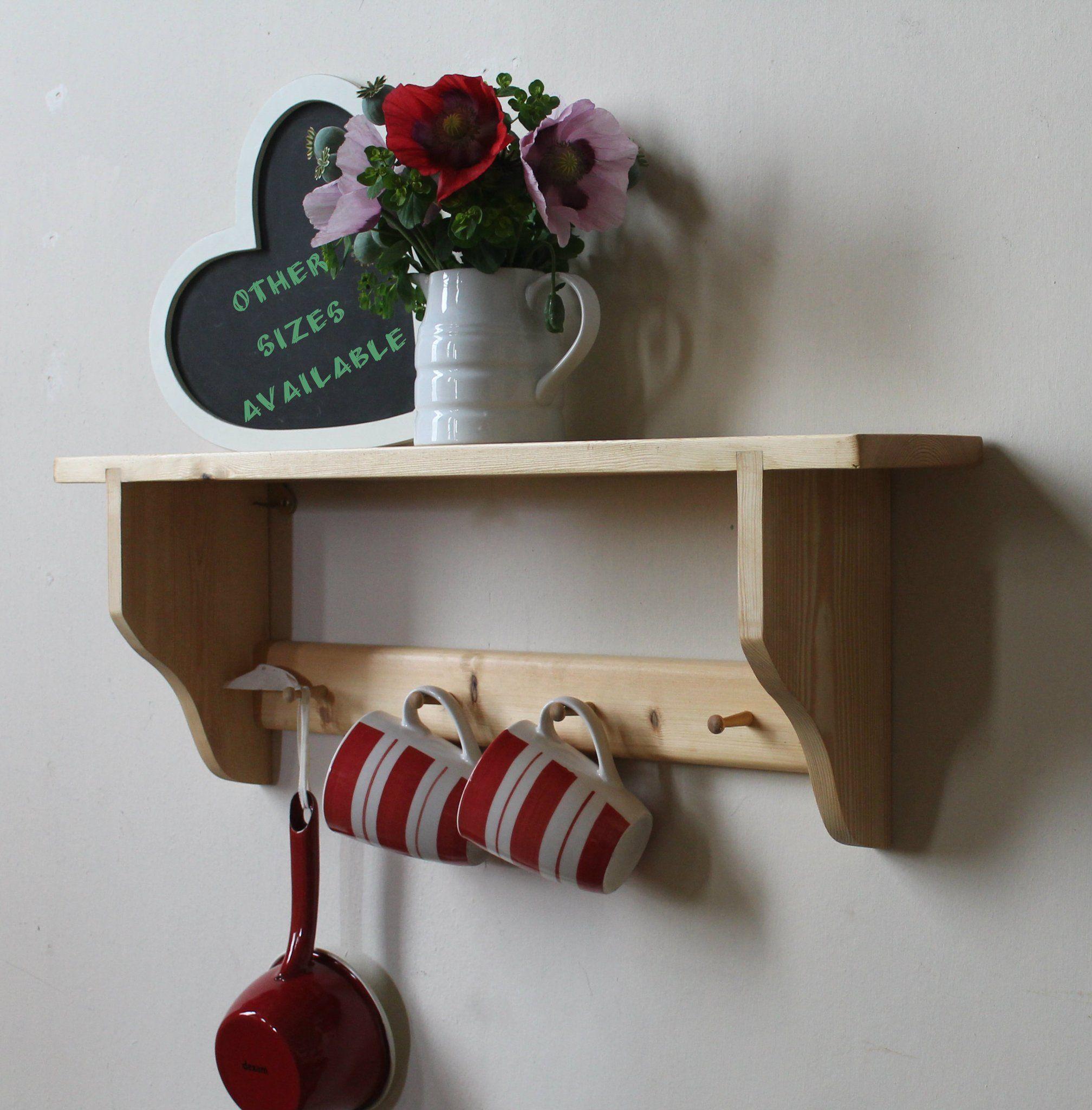 SHAKER 1 shelf with small pegs Shelves, Shaker pegs
