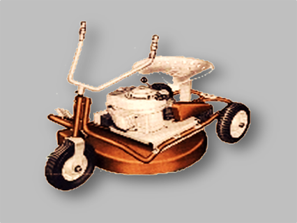 3 Wheel Mtd Vintage Tractors Lawn Mower Lawn Tractor