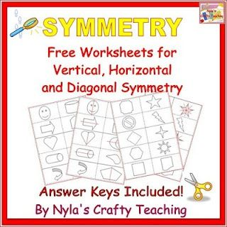 Free Symmetry Worksheets | SixthGradeStaff.com | Pinterest