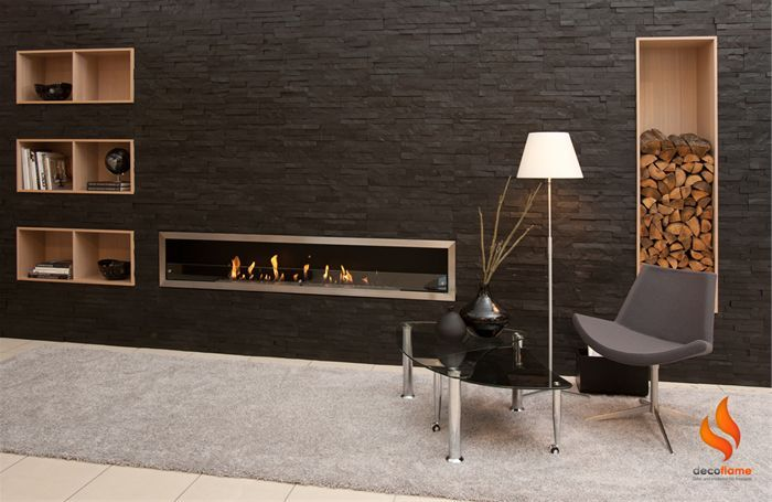 Wall Bio Ethanol Fireplace   With Wall Box Build Ins   Basement Feature?
