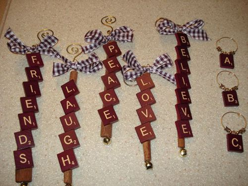 ornaments wire ribbon cinnamon stick with scrabble With stick on letters for christmas stockings