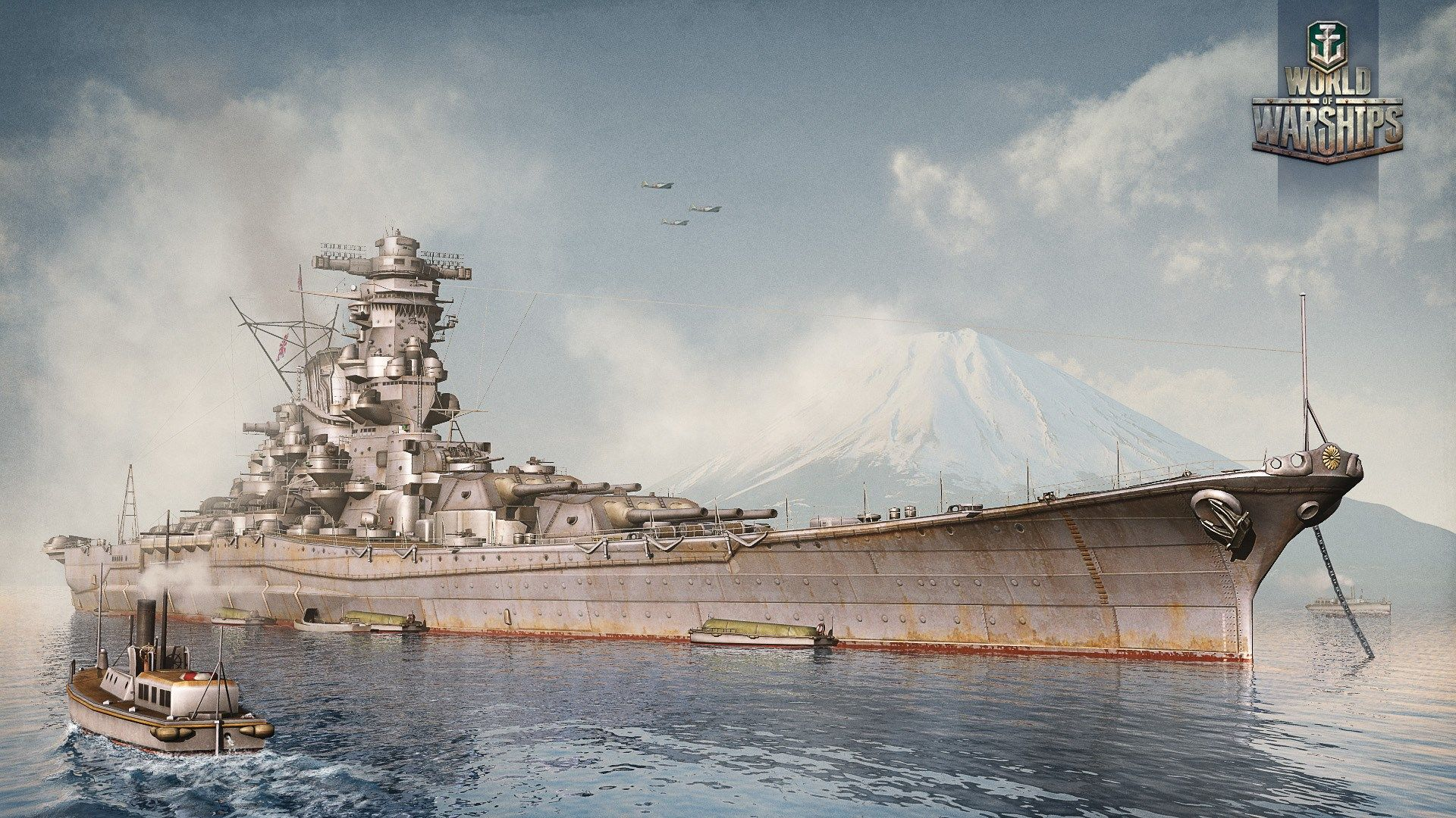 1920x1080 World Of Warships Game Wallpaper Yamato Battleship