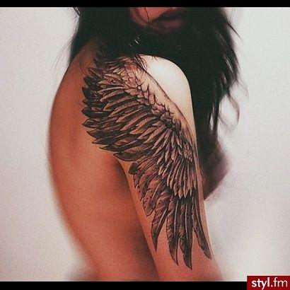 Tatuaże z motywem skrzydeł i piór - wznieś się ponad przeciętność! - Strona 3